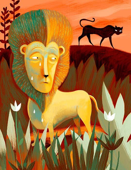 Ilustración y retrato de Francisco Javier Olea