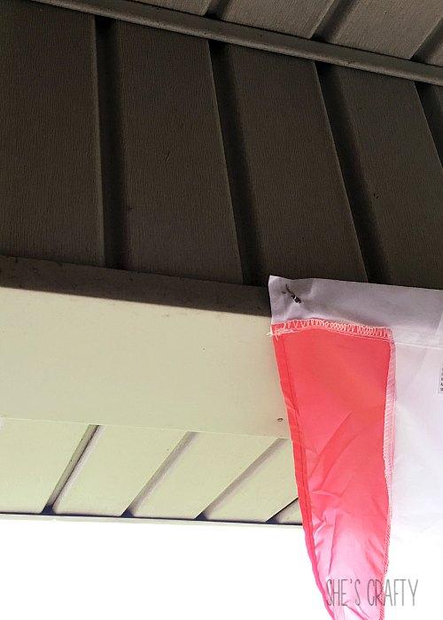 flag buntings, s hooks, hang on siding, patriotic decor