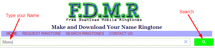 Search Name Ringtone Hindi