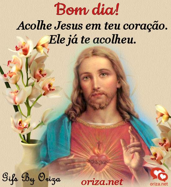 Imagens de Bom Dia Com Jesus flores bonitas