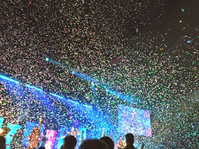 James River Church celebrated Easter with a confetti drop