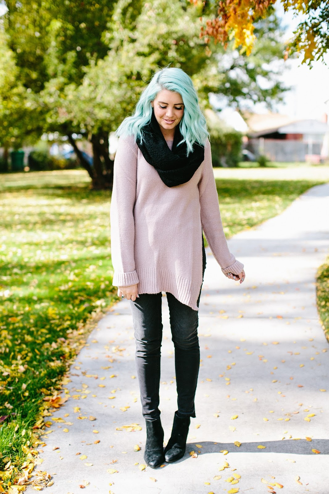 Pink Sweater, Fall Style, Cold Weather Style