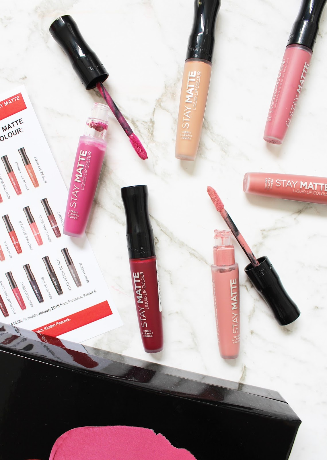 RIMMEL | New Stay Matte Liquid Lip Color - Review + Swatches - CassandraMyee