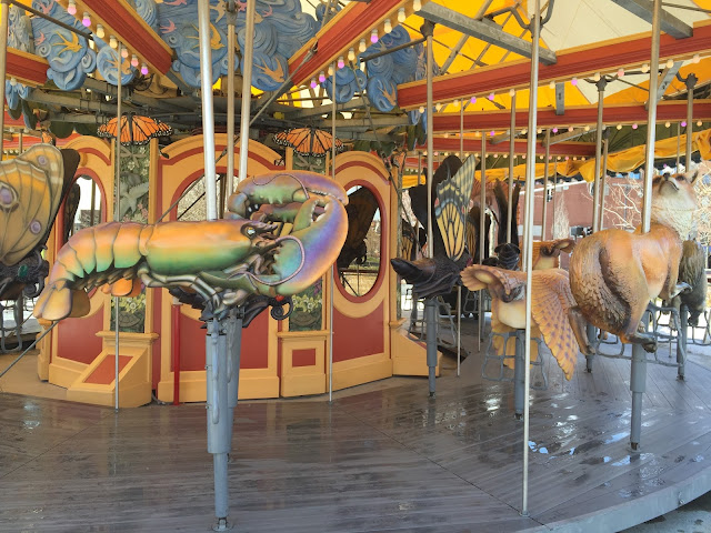 Venture & Roam: Lobster Merry-Go-Round Seats near the Quincy Market