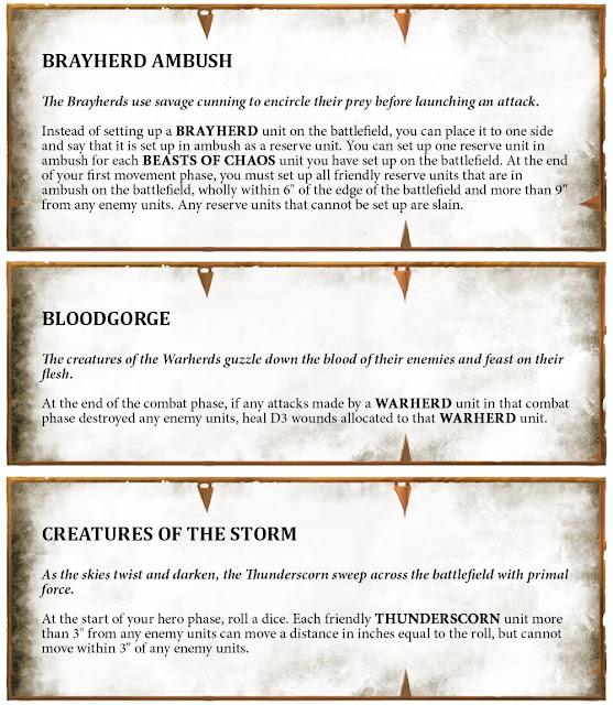 reglas Battletome bestias del Caos