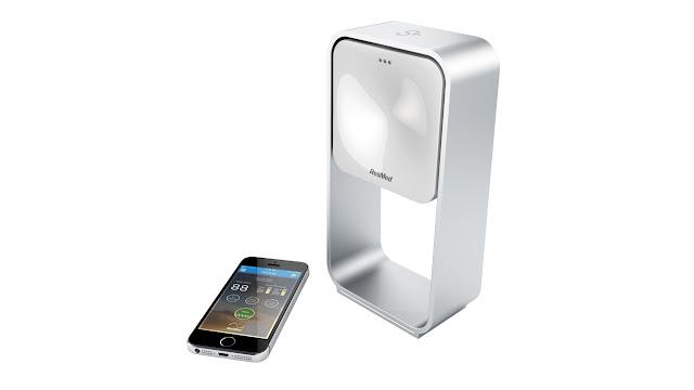 Sleep device alongside an iphone