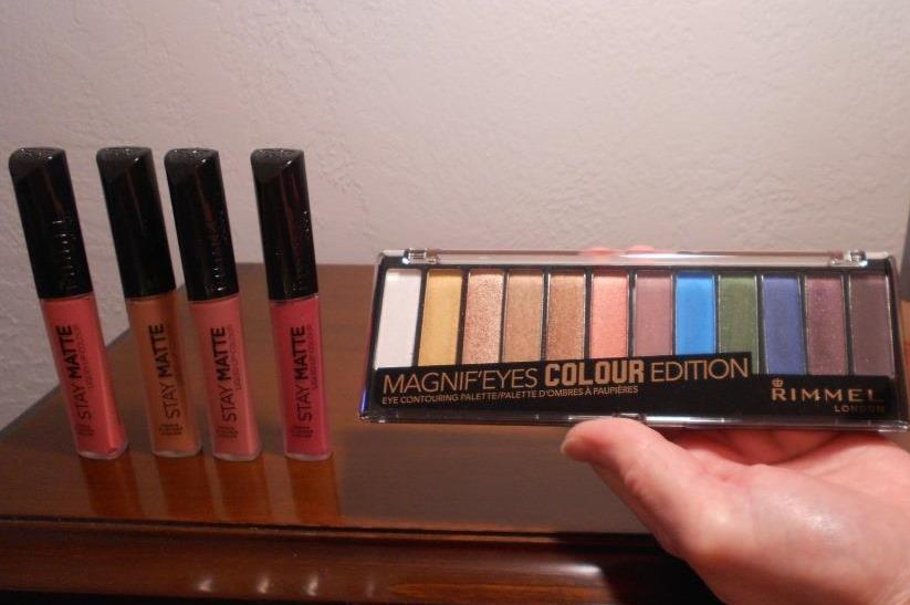 Inexpensive Rimmel  Stay Matte Lip Colours and  Magnif' Eyes Colour Edition Eye Shadow Palette Photo