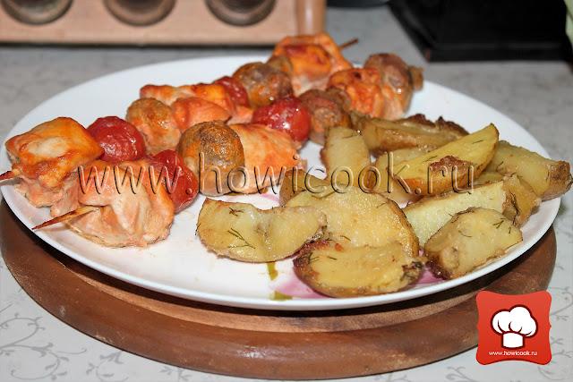 рецепт шашлычков в духовке