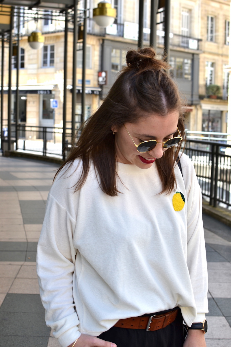 sweat éponge avec un citron de Wear lemonade