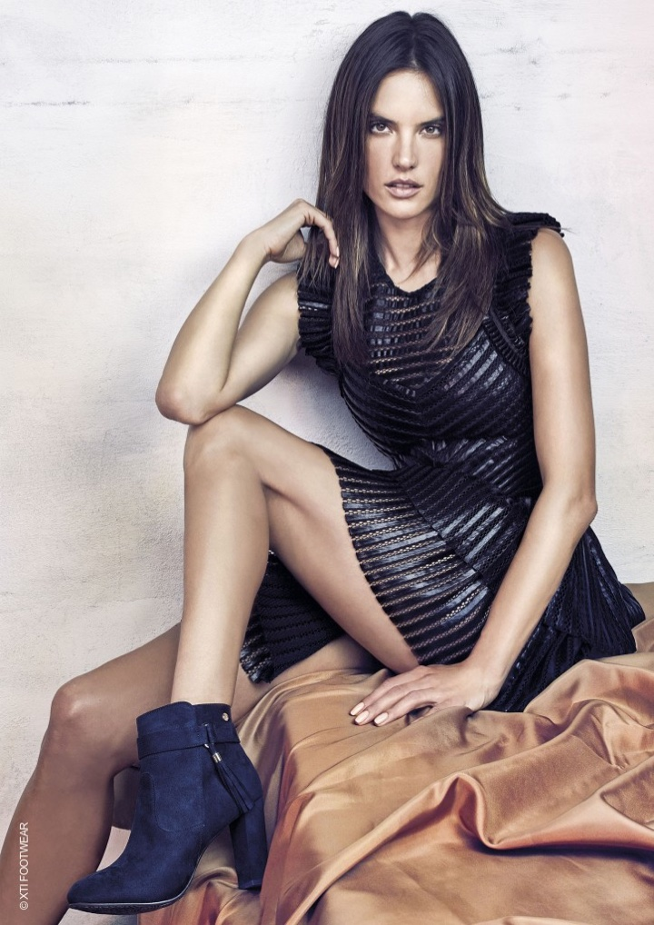 XTI Footwear Fall/Winter 2016 Campaign features Alessandra ... Alessandra Ambrosio
