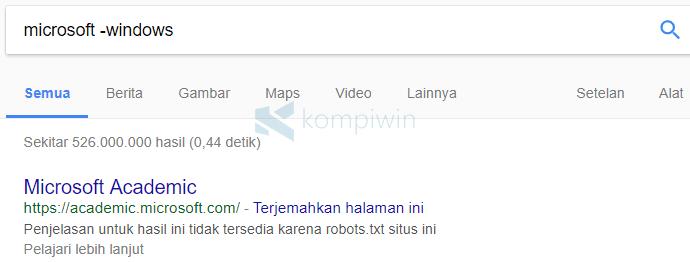 google mencari kata