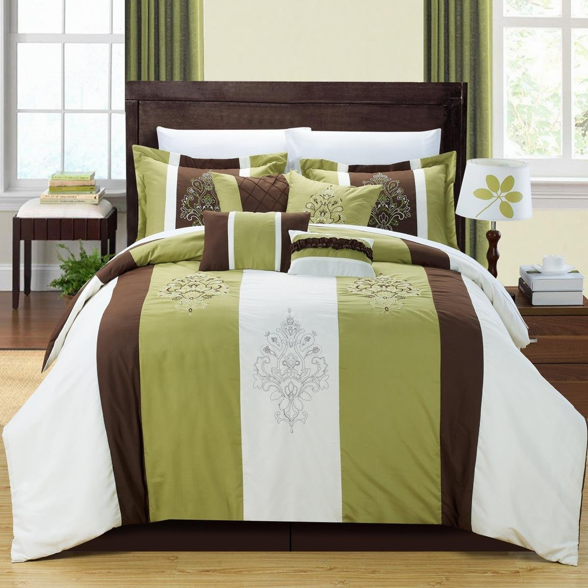 Green And Brown Bedroom Olive Green Bedding Sets Green Serene On A Budget