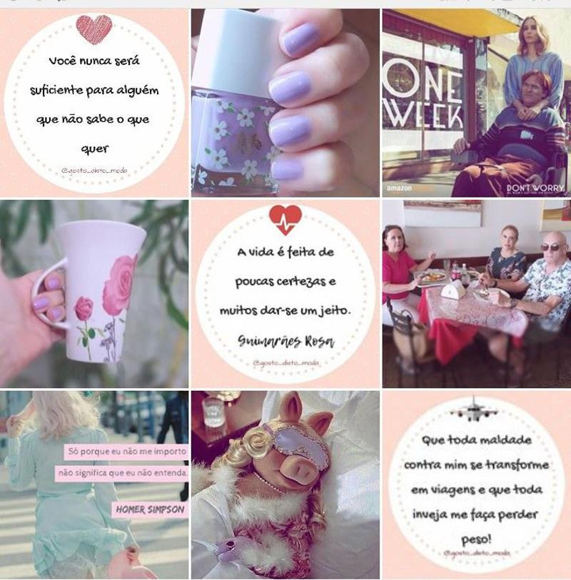 As melhores frases do instagram Gosto Disto desta semana