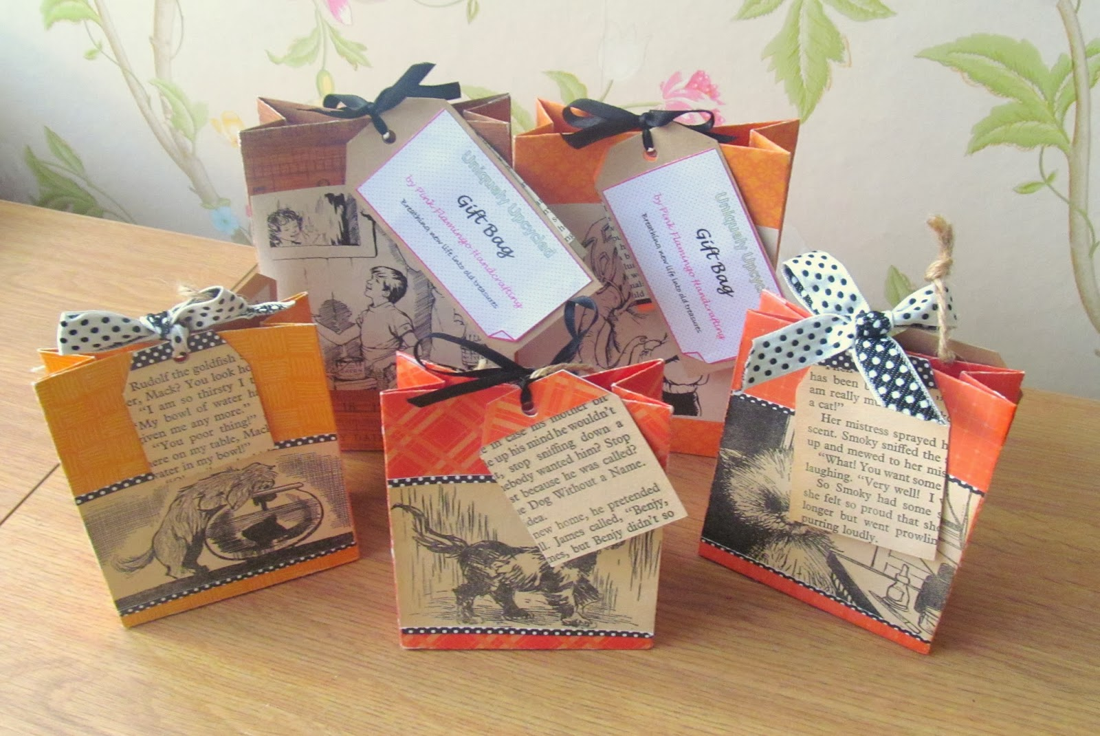 Handmade gift bags by Pink Flamingo Handcrafting
