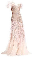 Marchesa feather gown dress
