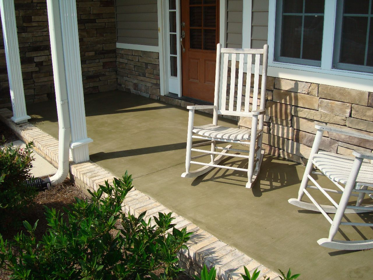 Atlantic Coast Concrete: Stained Porch And Stamped Patio