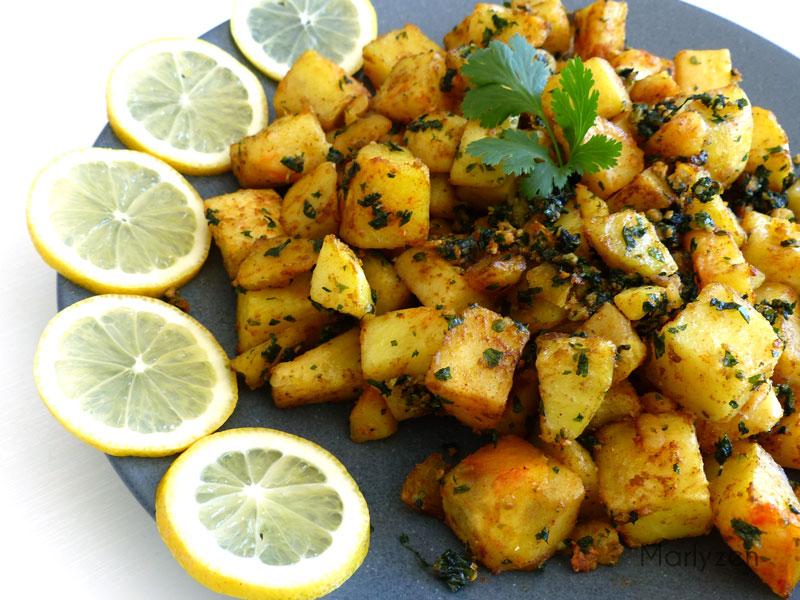 Batata harra : pommes de terre épicées à la libanaise