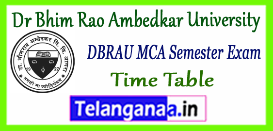 DBRAU Dr Bhim Rao Ambedkar University MCA 1st 3rd 5th Semester Time Table 2017