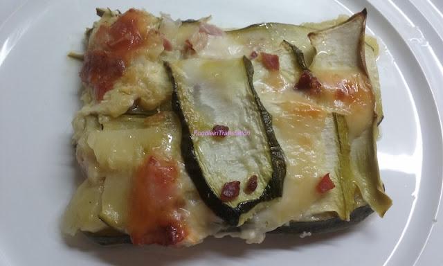 Sformato di zucchine, prosciutto e formaggio