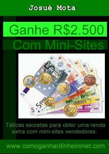 Comprar o Ebook Ganhar Dinheiro com Mini Sites Vendedores