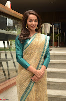 Tejaswi Madivada looks super cute in Saree at V care fund raising event COLORS ~  Exclusive 105.JPG
