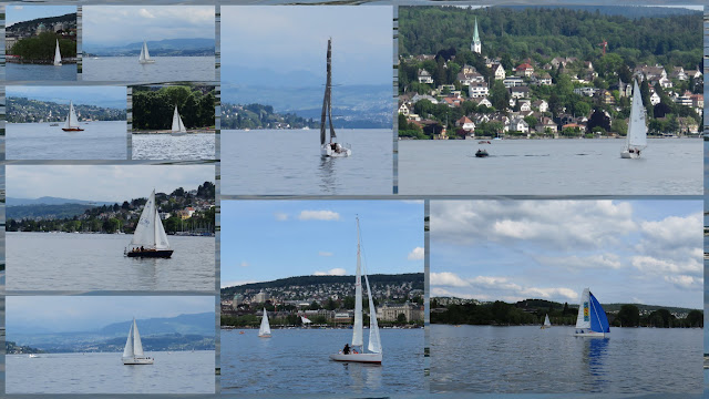Sailboats on Zurich Lake