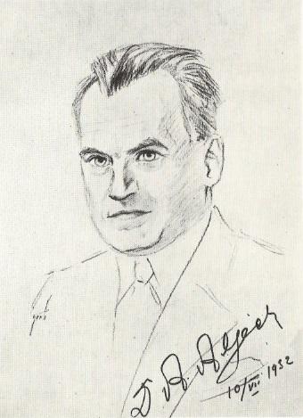 Dibujo de Henri Grob de Alexander Alekhine