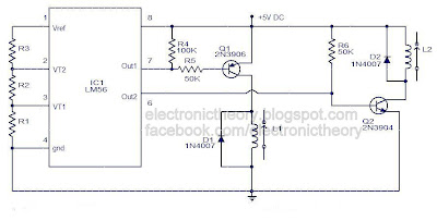 simple electronic thermostat using ic lm56 rh electronictheory blogspot com Thermostat Relay Circuit Thermostat for Transistor Circuit