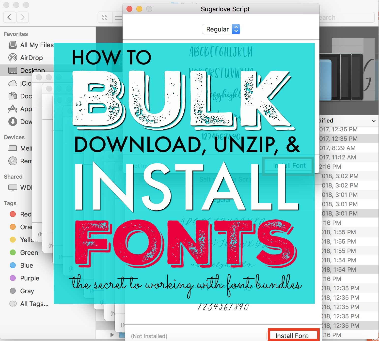 Fastest Way to Install Fonts from Bundles: Silhouette Studio