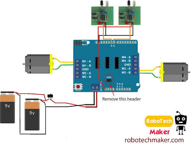 atomoreilly sourceoreillyimages likewise Motor Stepper Servo Shield Details additionally Circuit Bdiagram Barduino Bline Bfollower Brobot as well Fzh I Inj R Rect moreover Assb Img. on arduino line following robot