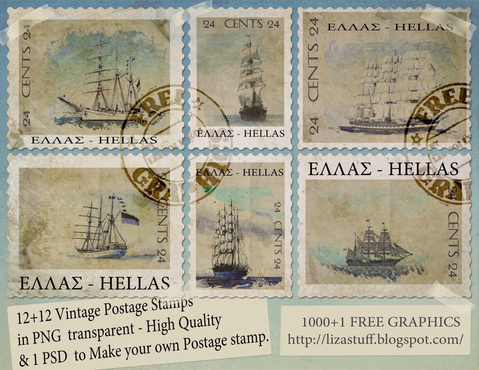 1000 1 free graphics 12 12 vintage sailing postage stamps png 1