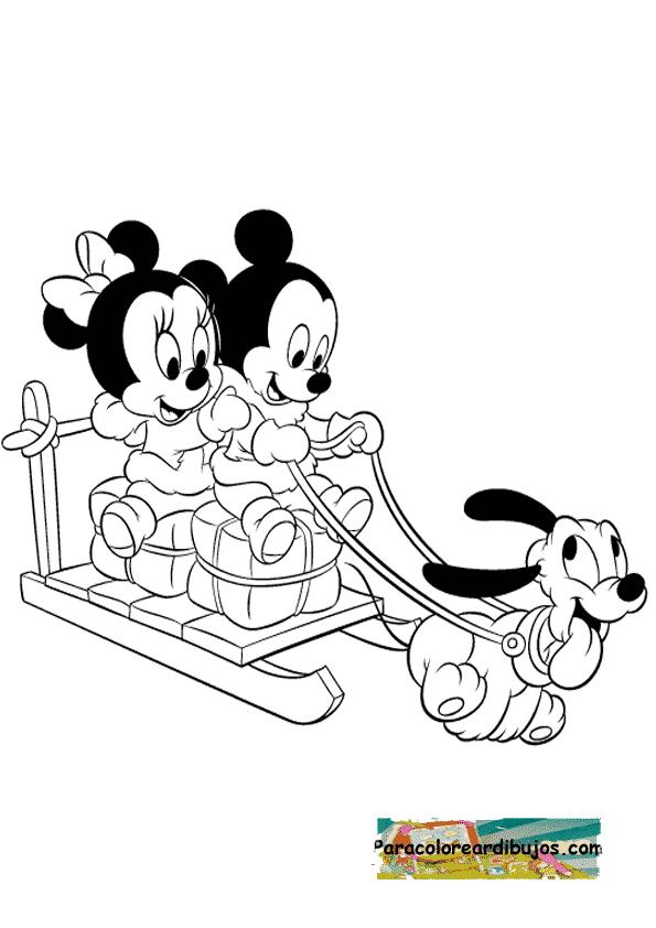 Balaton Today Imagenes De Mini Y Mickey Bebes Para Colorear