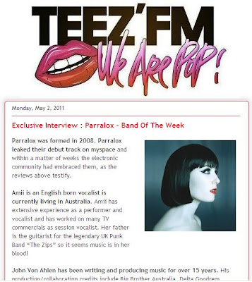 Teez'FM - Exclusive Interview + Band of the week (France)