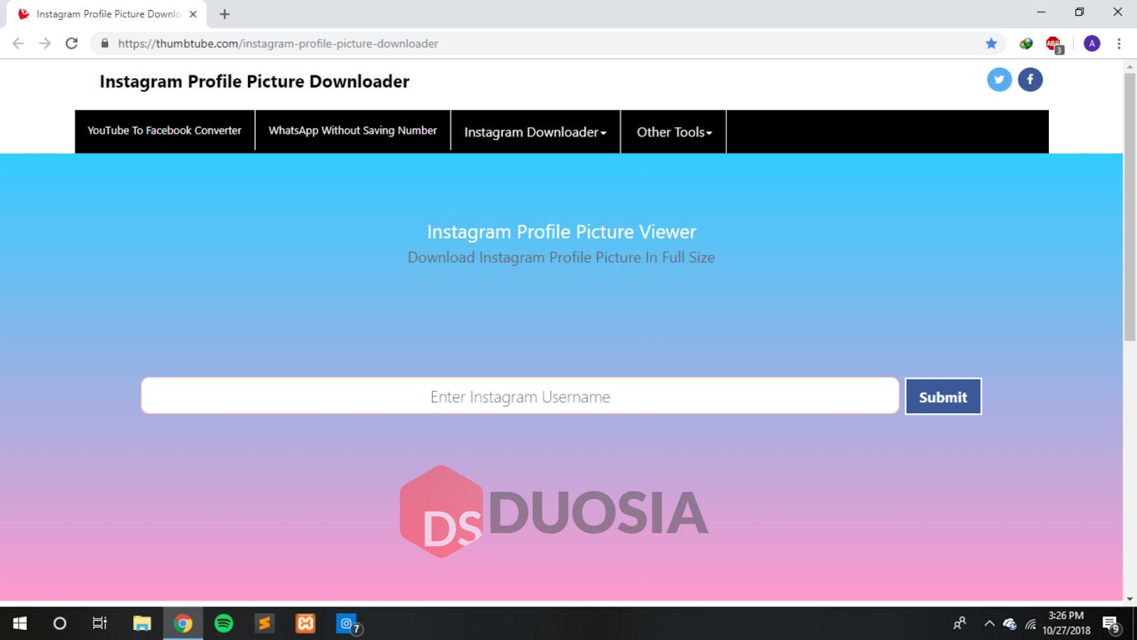 cara download dp instagram tanpa ribet