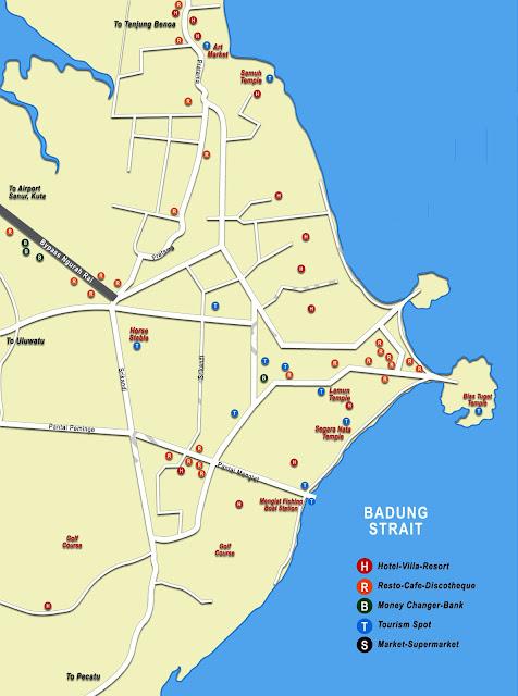 Gambar Peta Nusa Dua Bali