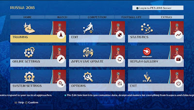 PES 2018 Theme World Cup 2018 Russia Graphic Menu by EgaOi