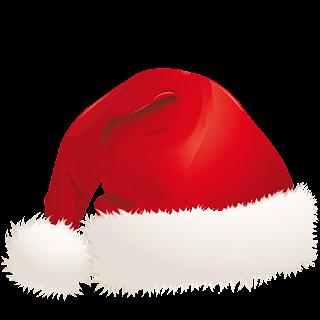 gorra roja de papa noel y santa claus
