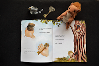 miniature key and squirrel story props for the tree the key and me personalised book