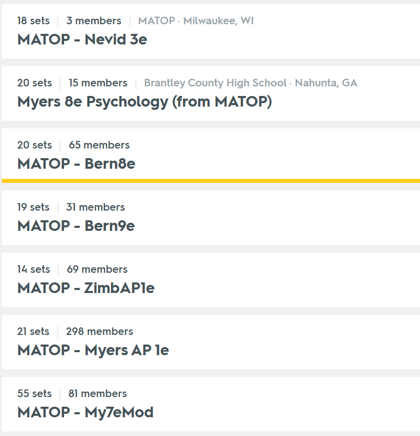 Teaching high school psychology quizlet and matop resources posted by chuck schallhorn publicscrutiny Choice Image