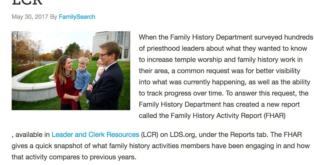 rejoice and be exceeding glad family history reports now