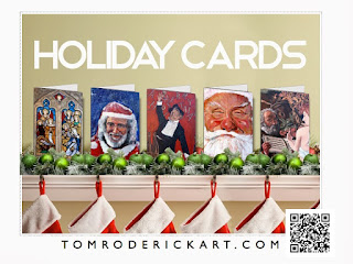Holiday cards by Boulder portrait artist Tom Roderick