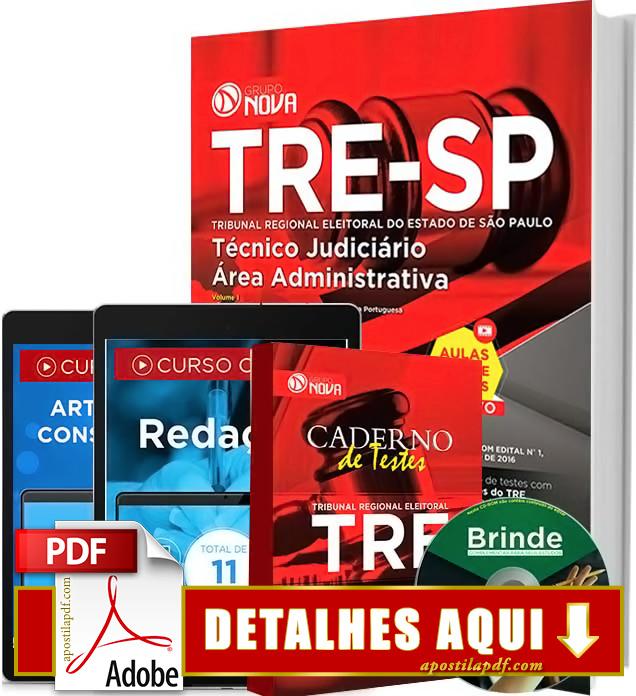 Apostila TRE SP 2016 Técnico Judiciário Impressa