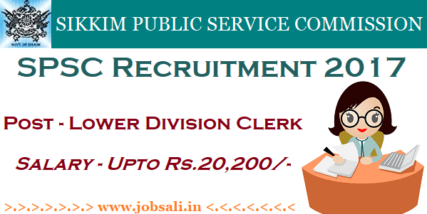 spsc jobs 2017 advertisement, lower division clerk recruitment 2017 , spsc jobs 2017 apply online