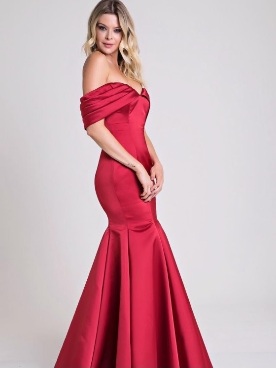 vestido vermelho formatura