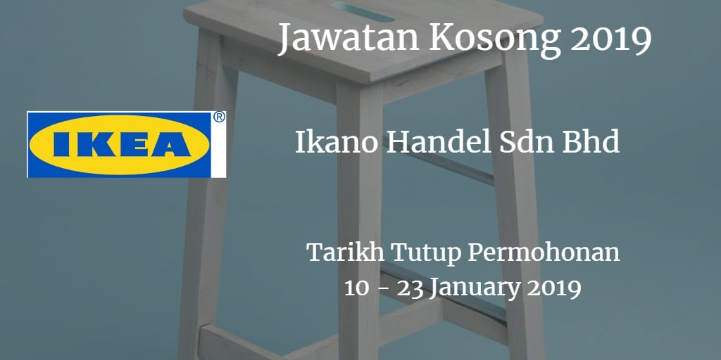 Jawatan Kosong IKEA 10 - 23 January 2019
