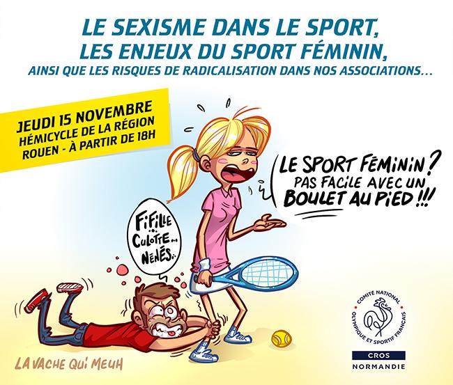 illusration humoristique pour illustrer un colloque organisé par le CROS Normandie