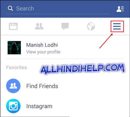 open-fb-profile-and-setting