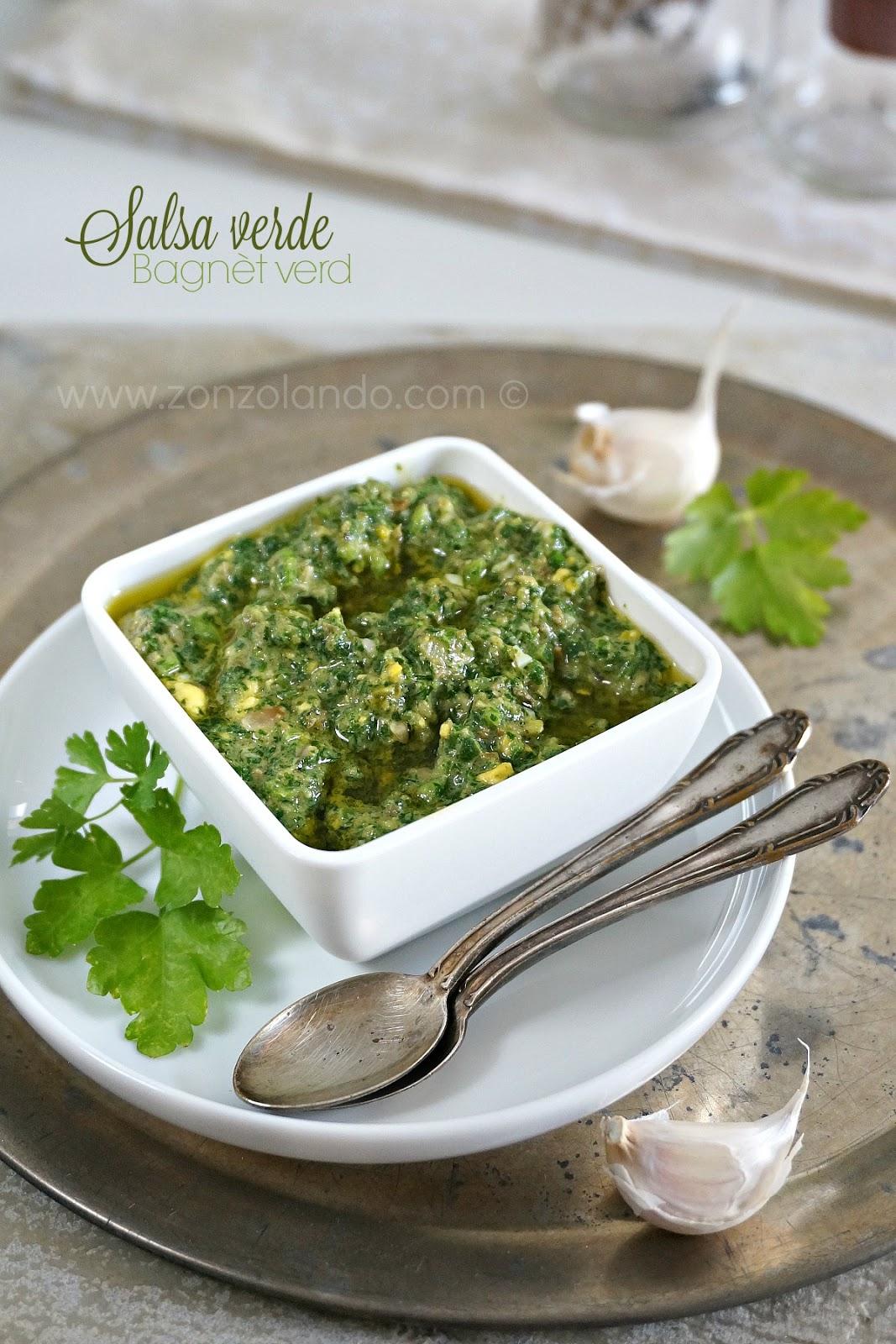 salsa verde a base di prezzemolo per bolliti e carni arrosto ricetta bagnet verd