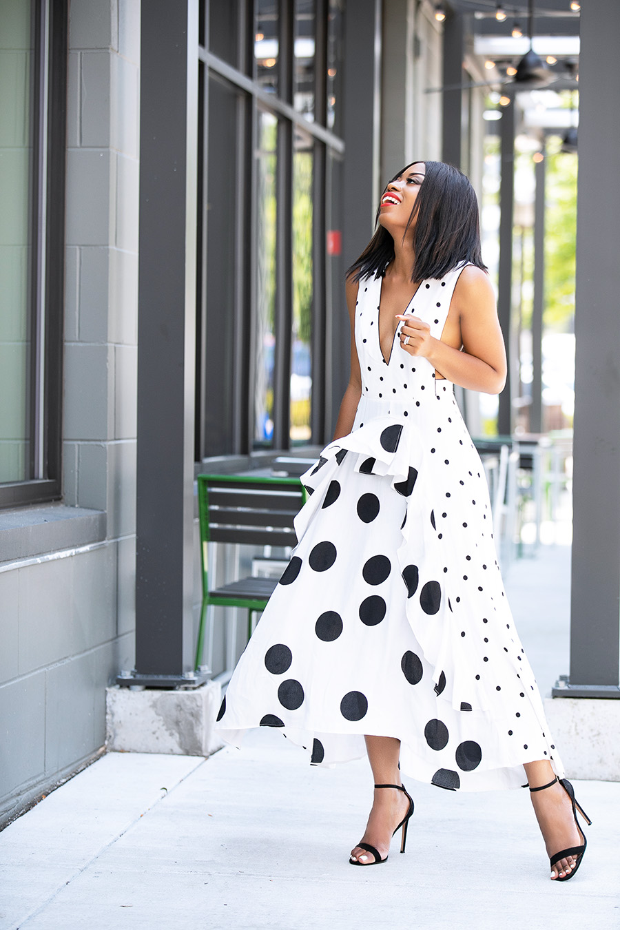 topshop mix polka dot dress, www.jadore-fashion.com