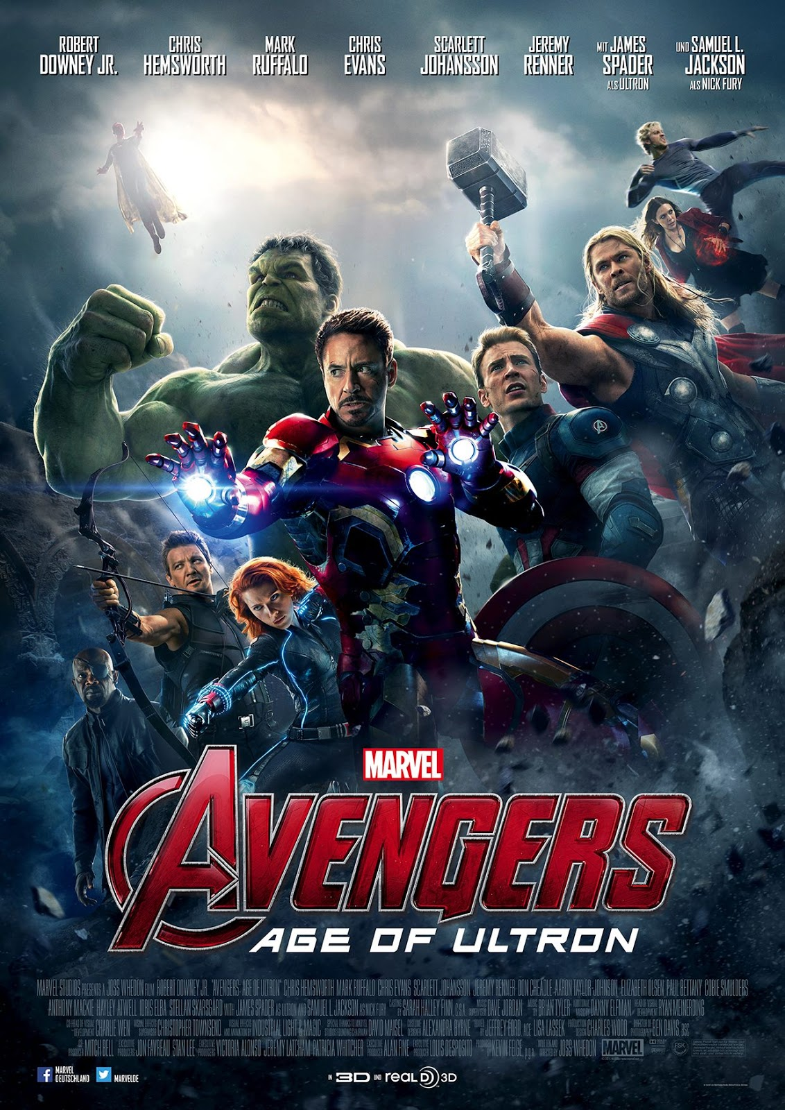 Marvel Avengers Age of Ultron Poster Plakat
